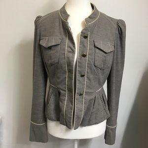 Taikonhu Anthropologie Gray Button Blazer Jacket 4